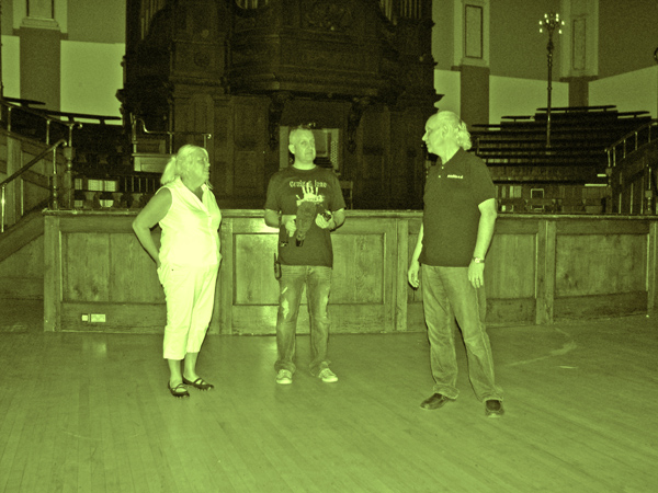 Jane, Damian and Craig in the Concert Hall